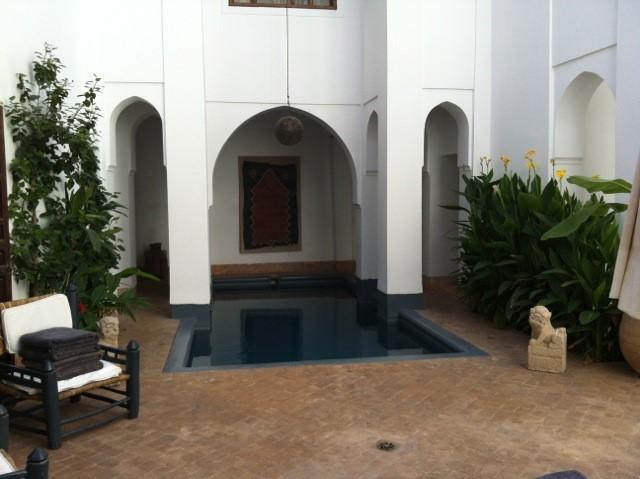 Patio interior del Riad el Cadi.