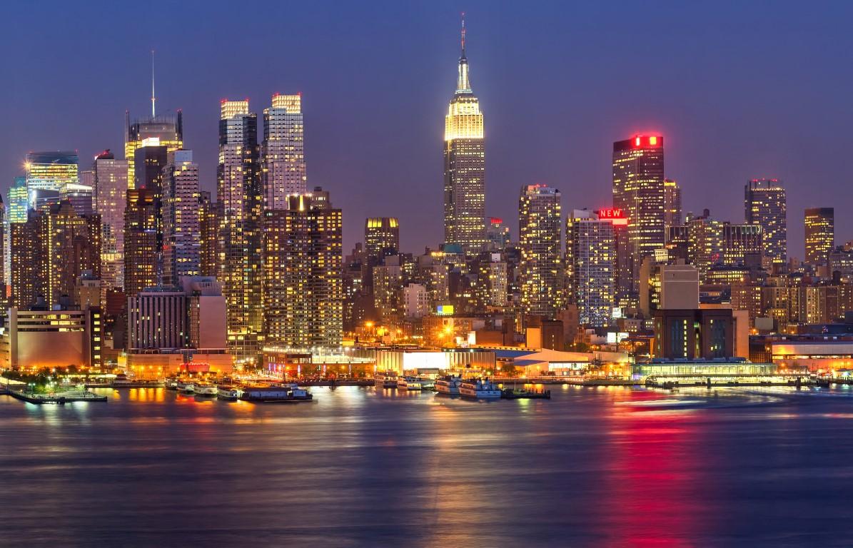 vuelta al mundo en 80 días Vista del skyline de Nueva York
