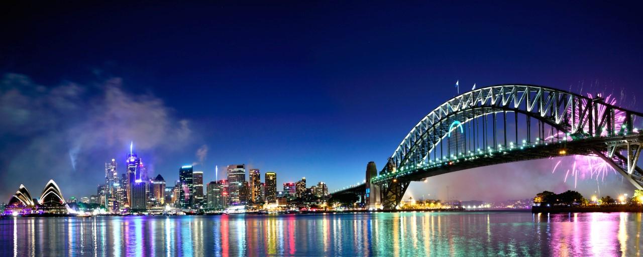 Fuegos artificiales en el Puerto de Sydney
