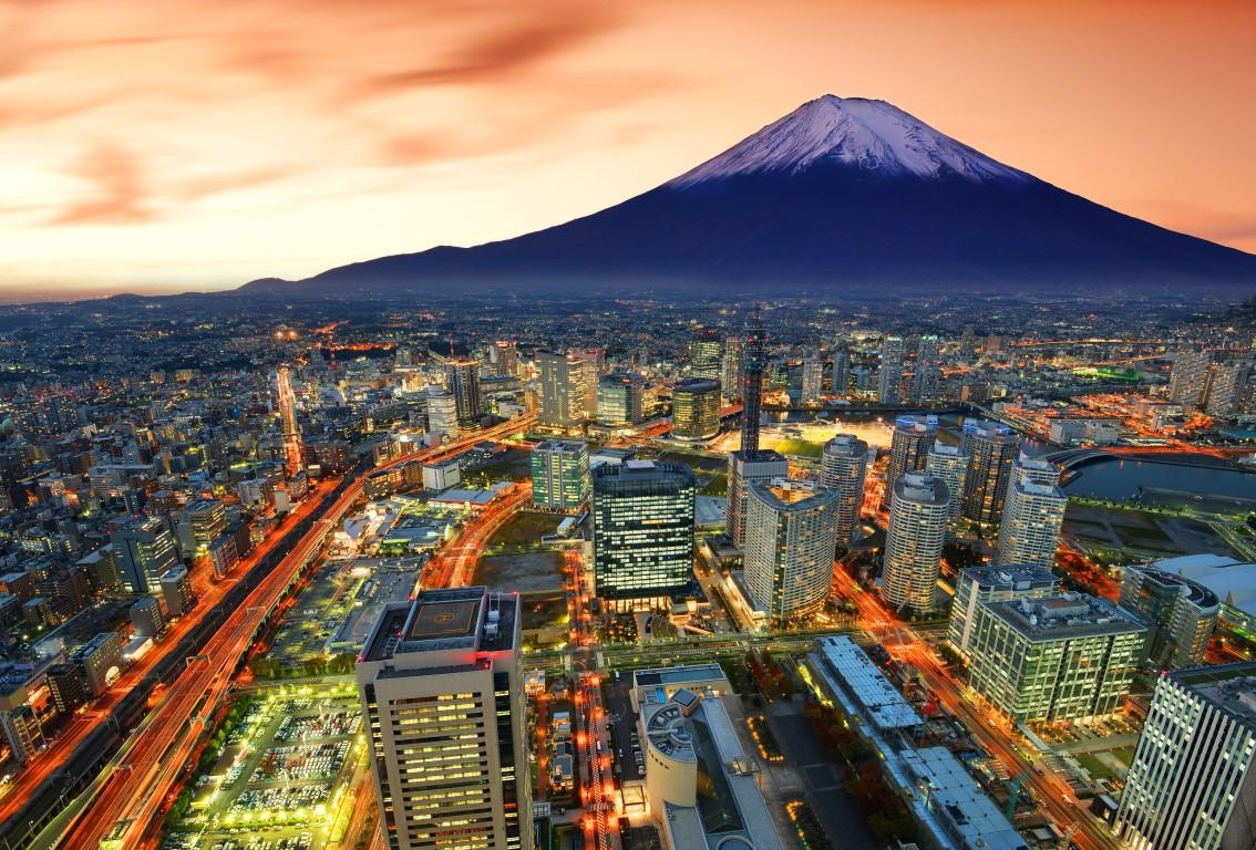 vuelta al mundo en 80 días Yokohama and Fuji