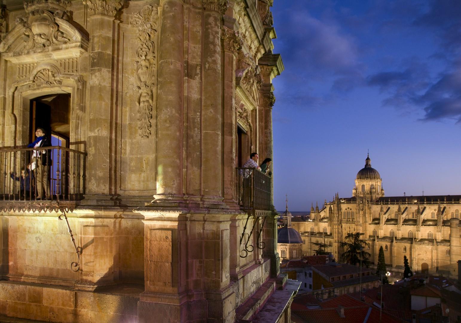 viaje con amigos Vista desde la catedral de Salamanca.