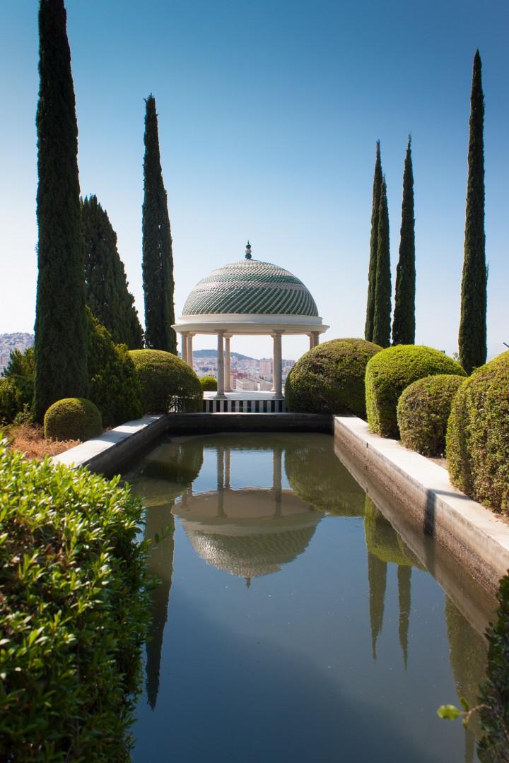 Mirador del Jardín Botánico de Málaga.