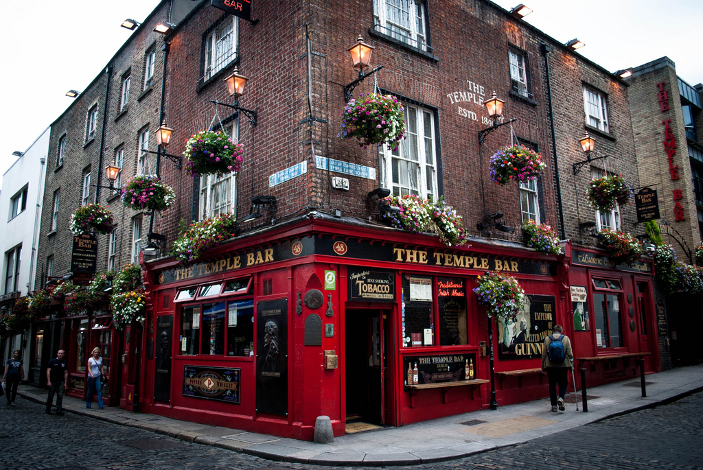 cultura celta The Temple Bar en Dublín.