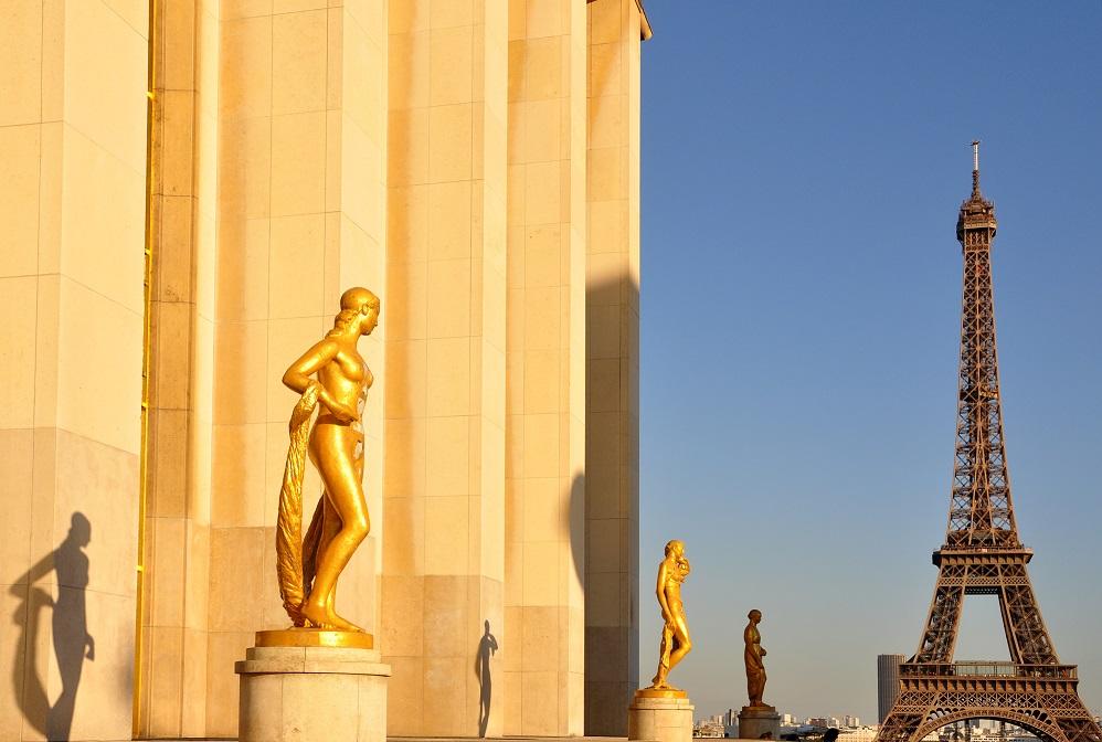Estatuas del Museo Nacional de la Marina en Trocadéro.