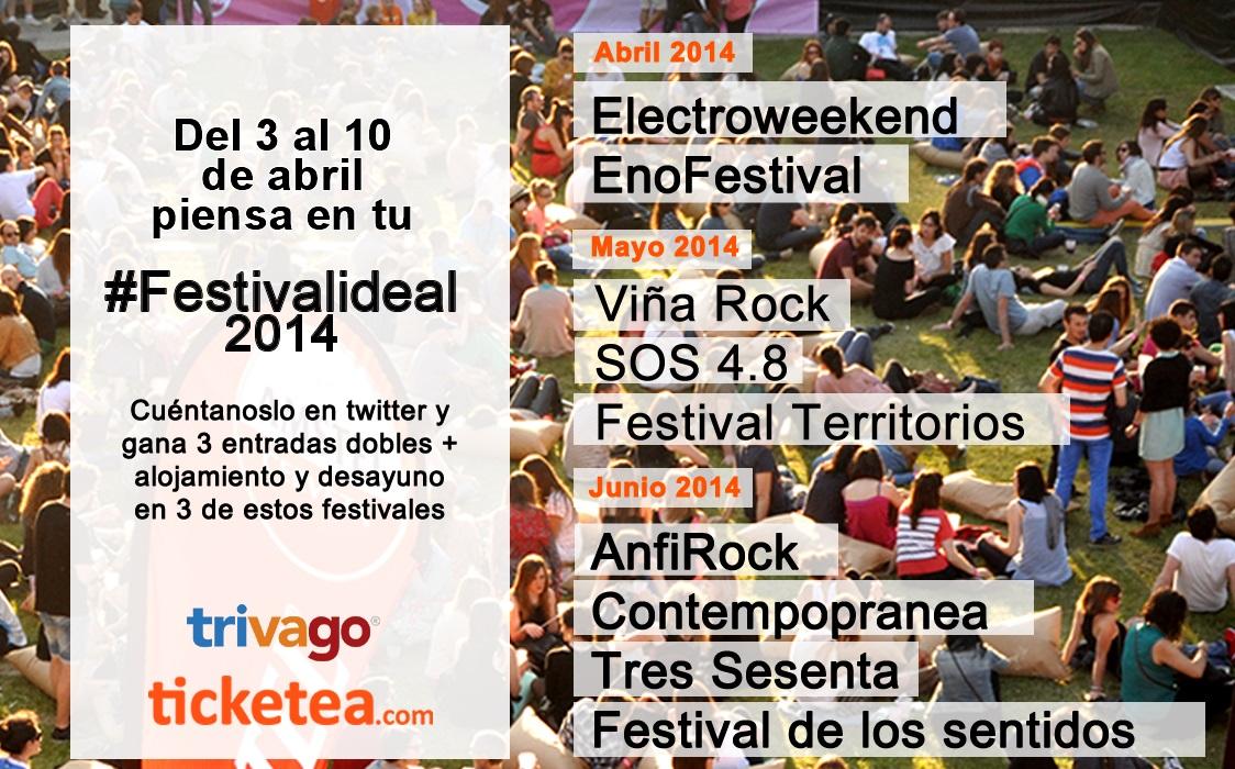 Cartel del concurso #Festivalideal2014