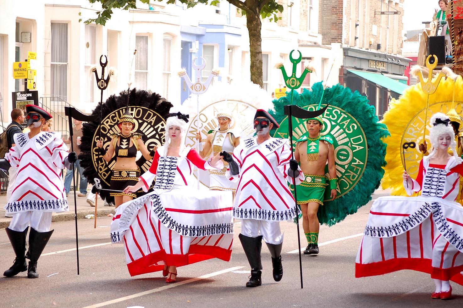 fiestas del mundo Desfile en el Carnaval de Notting Hill.