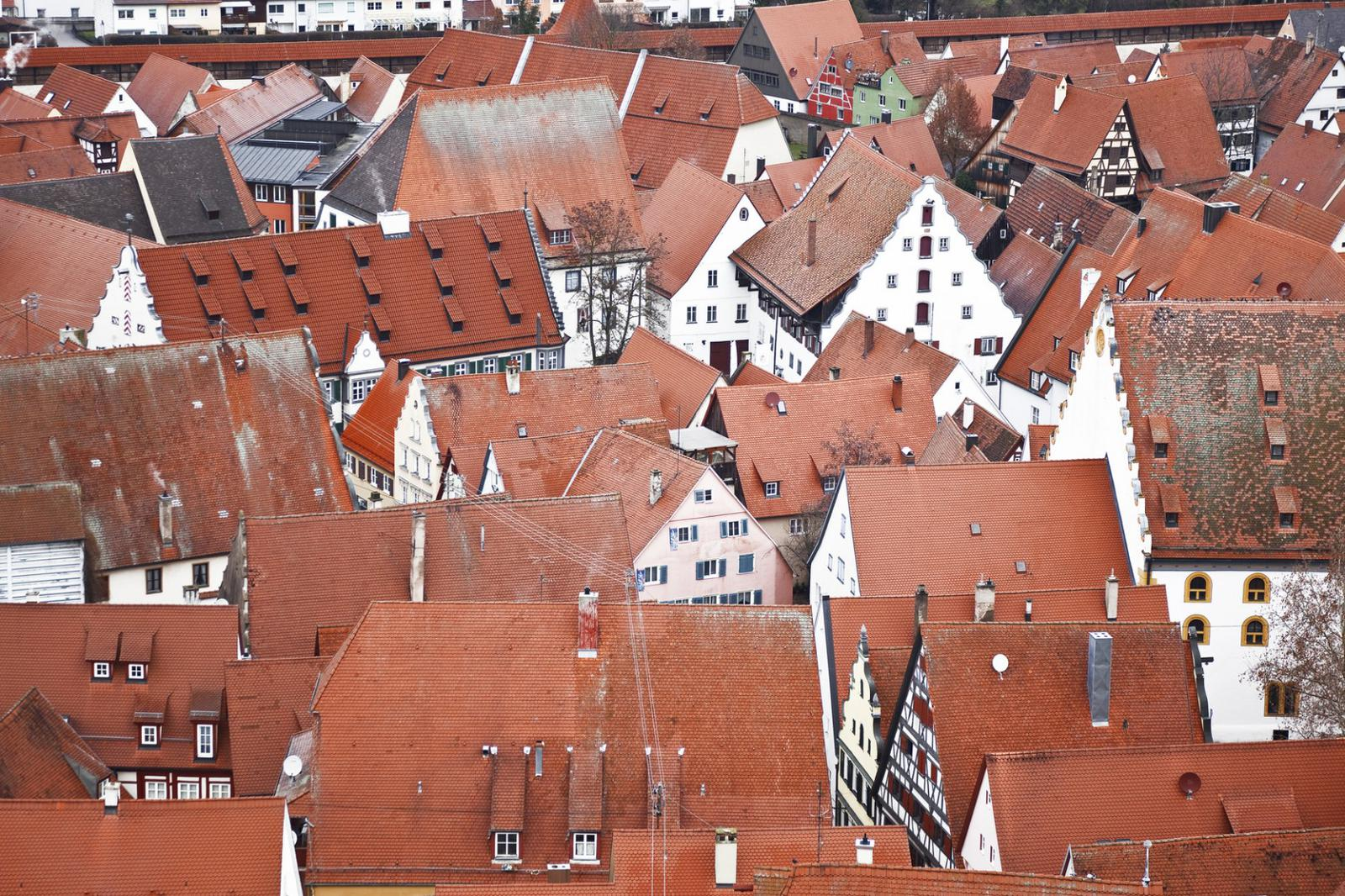 pueblos curiosos Nördlingen, Germany, Bavaria, view from the top