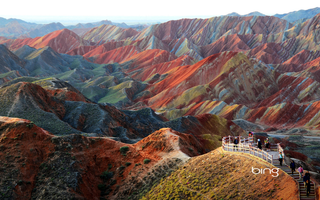 Zhangye-Danxia-Landform-in-Gansu-China-by-达-李