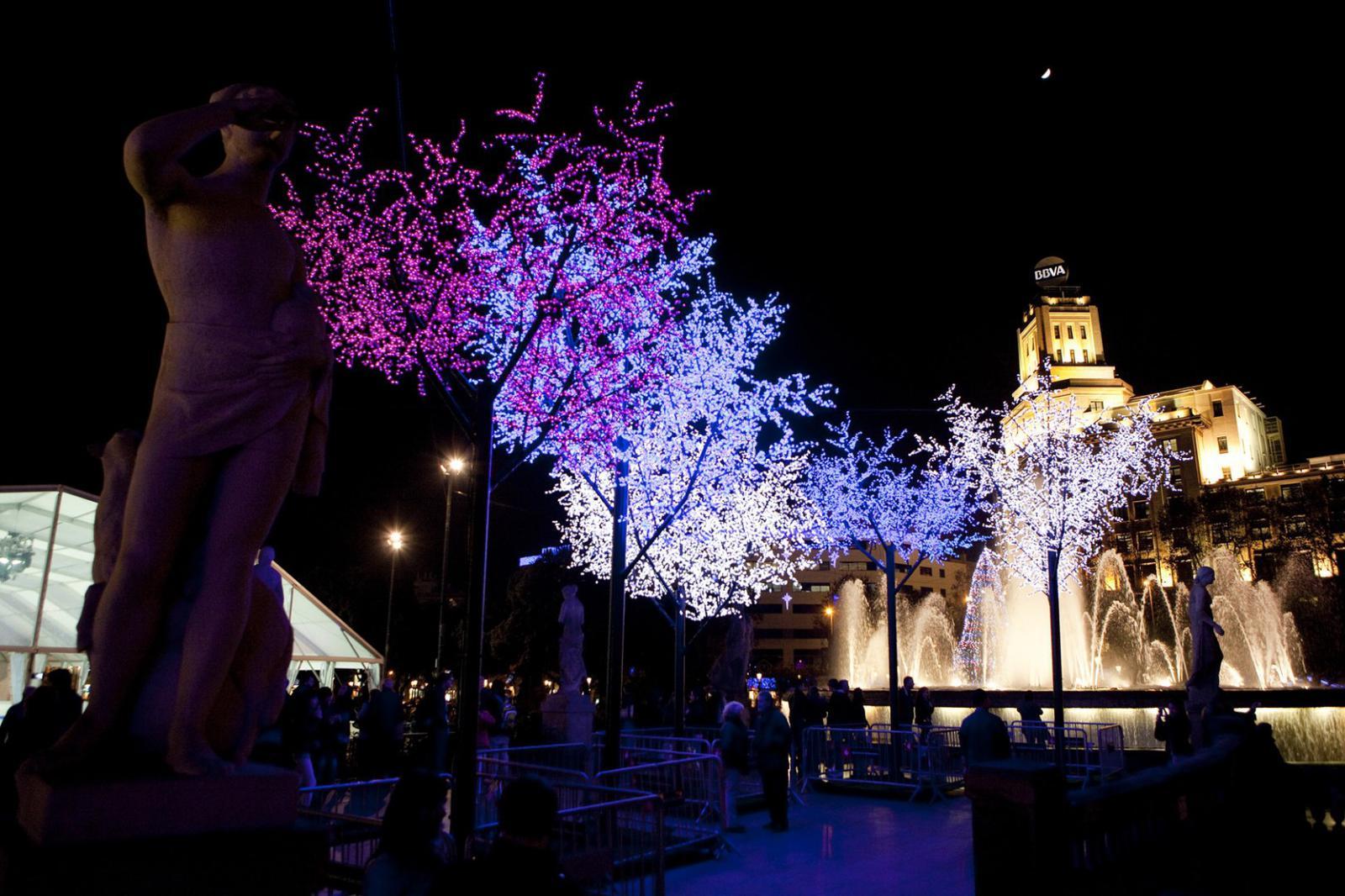 Luces de navidad en Barcelona-Foto: Ajuntament de Barcelona