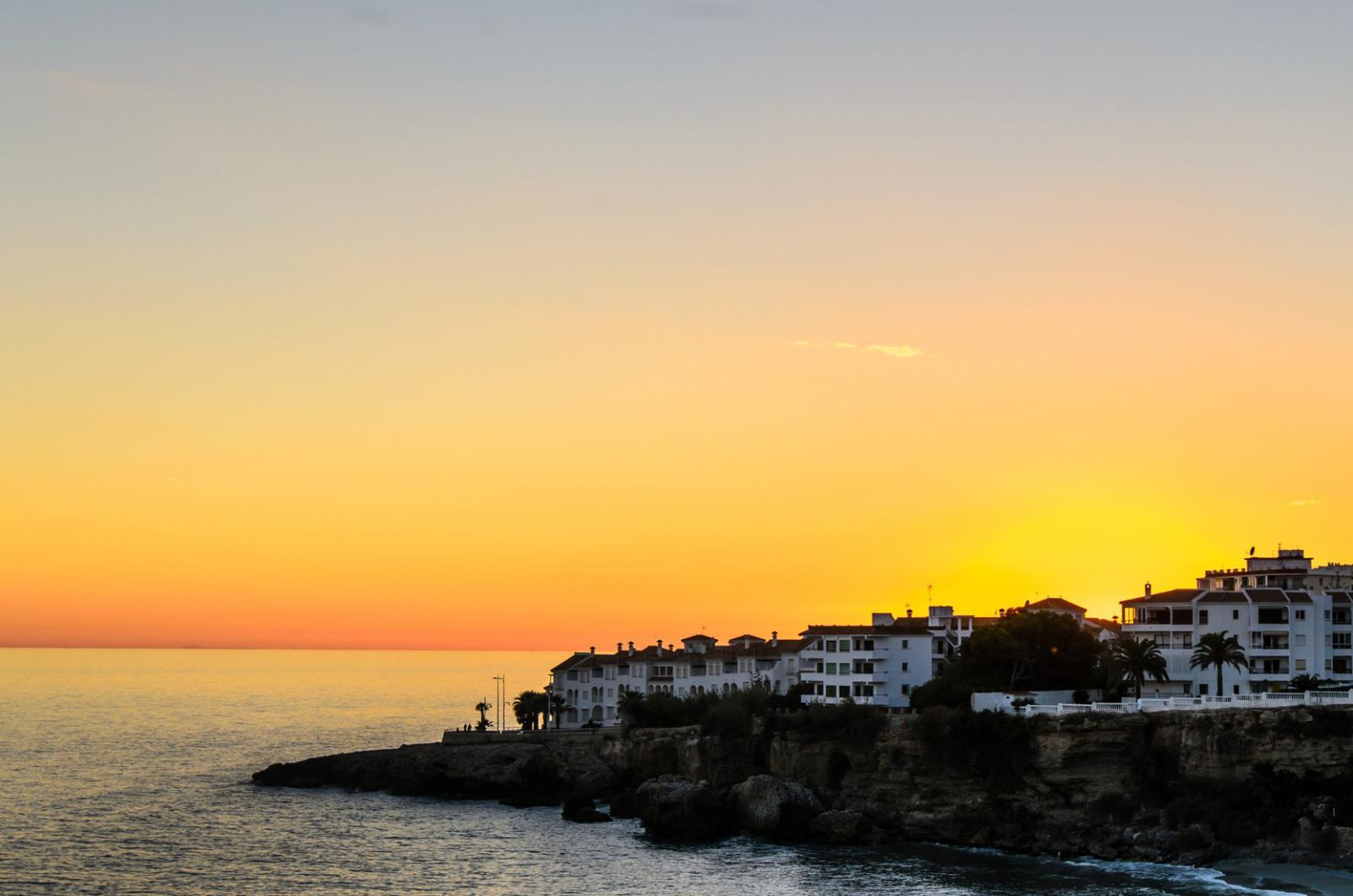 pueblos andaluces con encanto Abendstimmung in Nerja Spanien