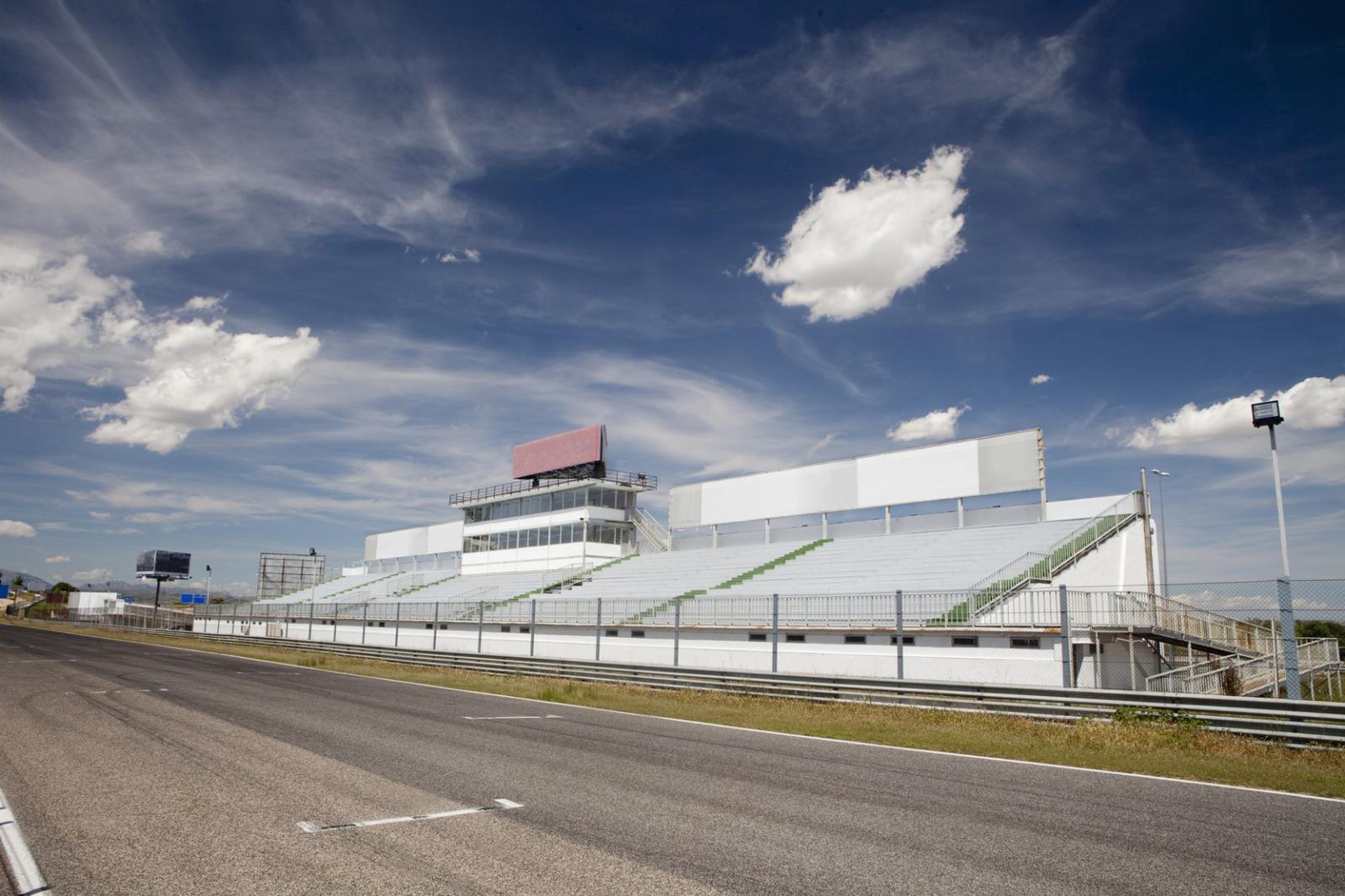 Jarama racetrack tribune.