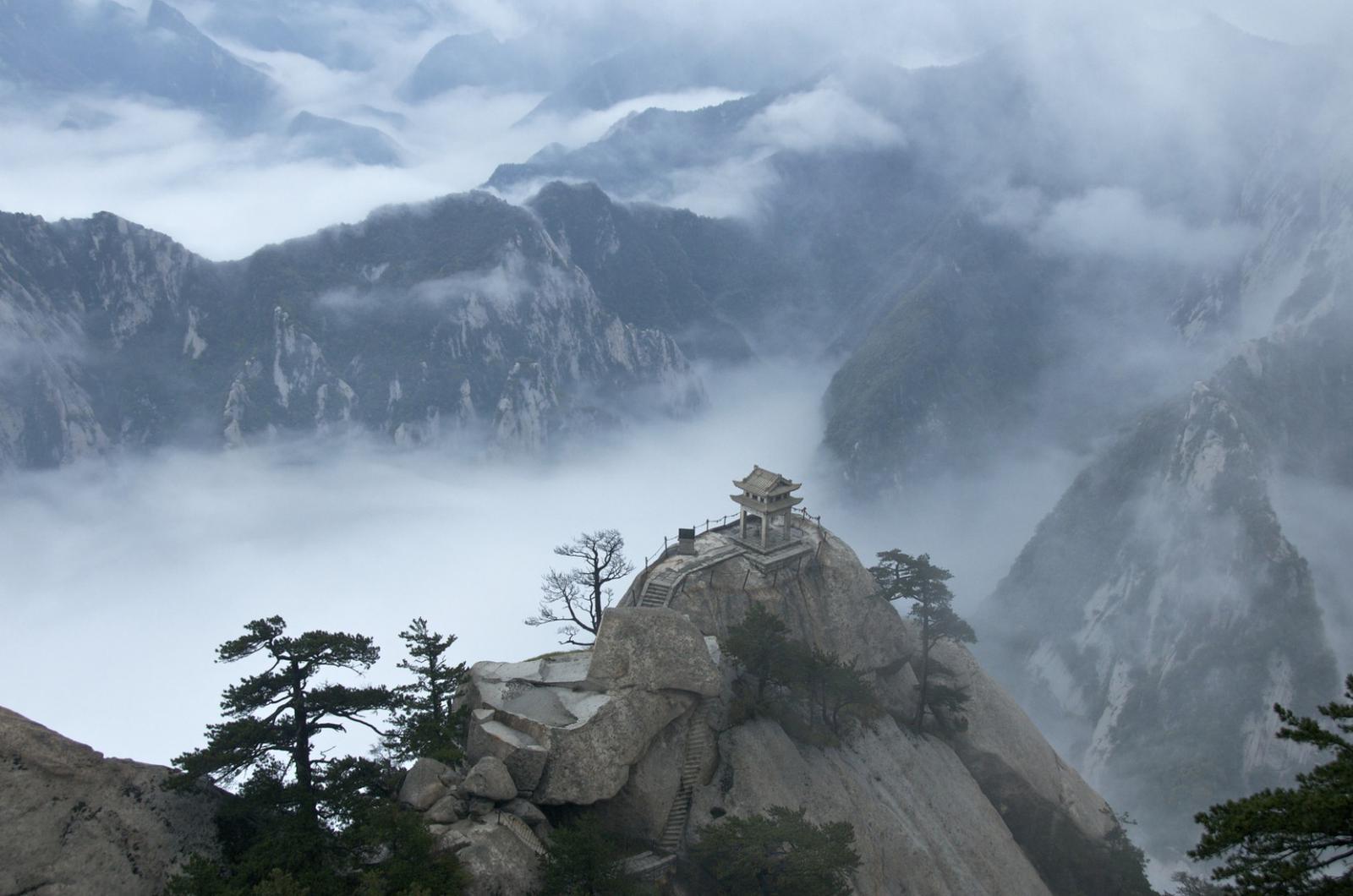 Hua Shan in a sea of clouds