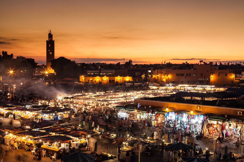 Marrakesch, Djemaa el Fna, Marokko