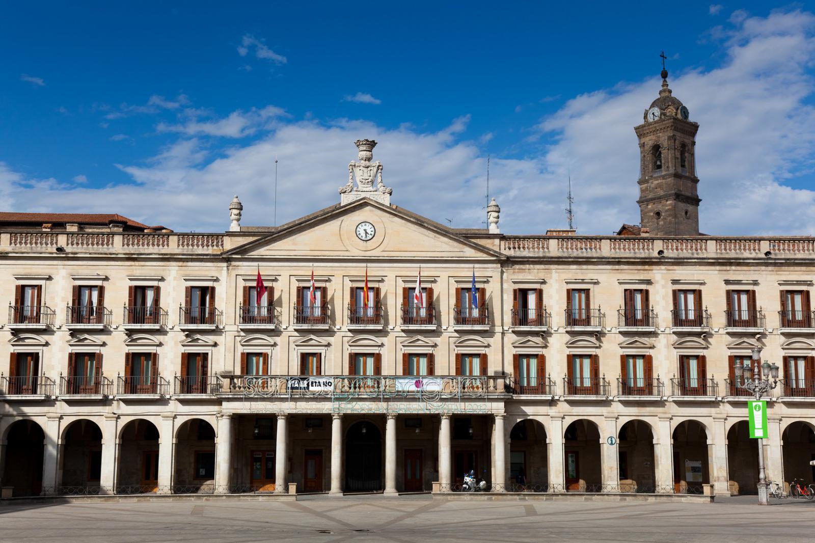City council, New square, Vitoria, Alava, Basque Country, Spain