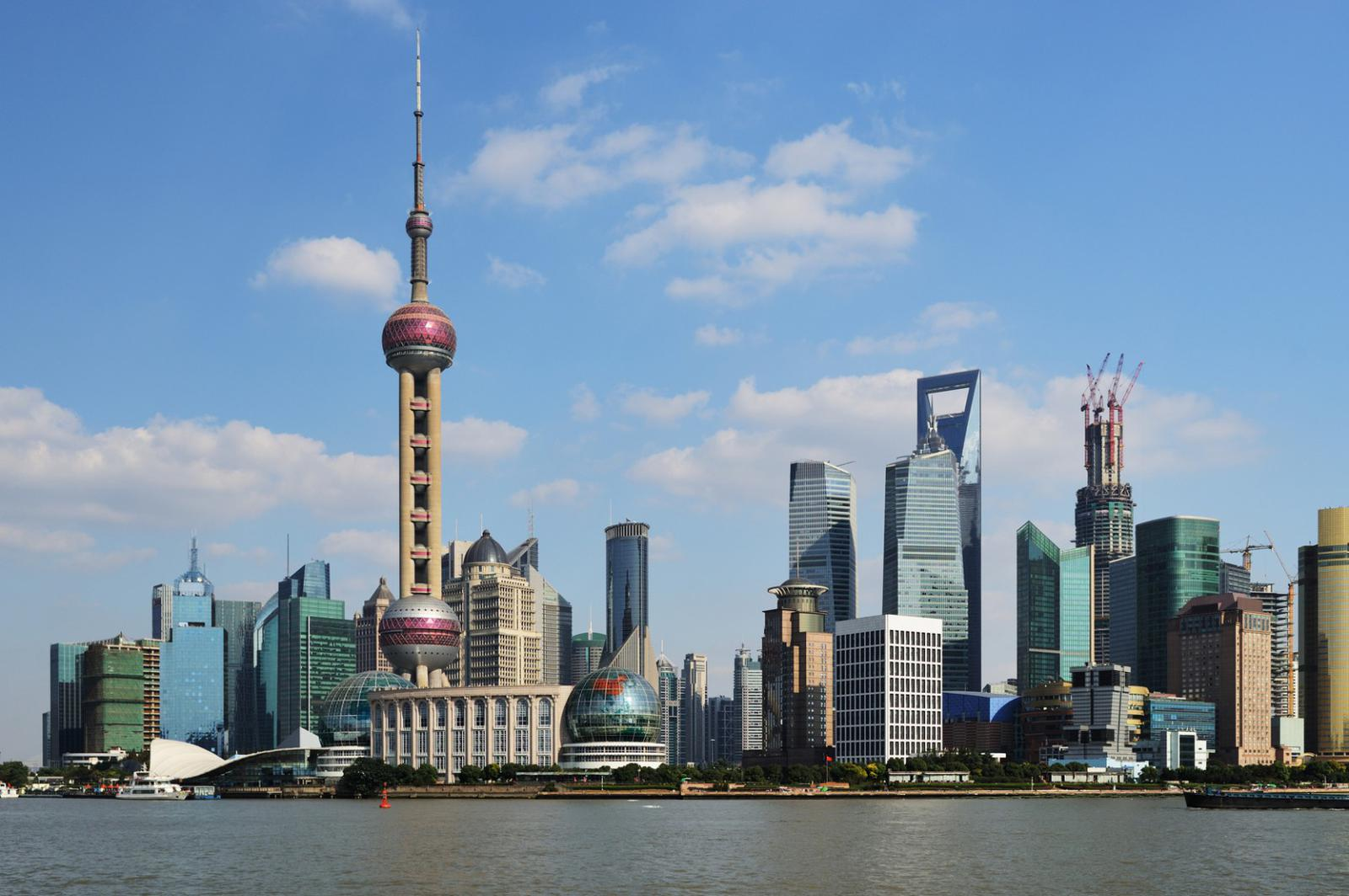 View of Shanghai World Financial Center from the Bund