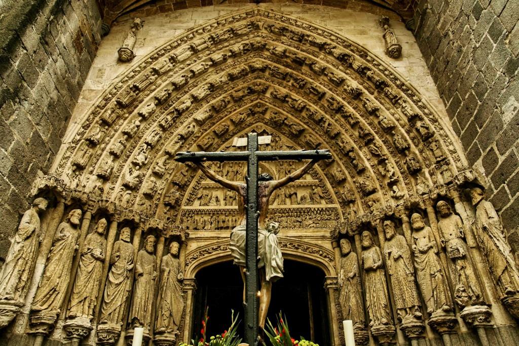 foto entrada catedral avila