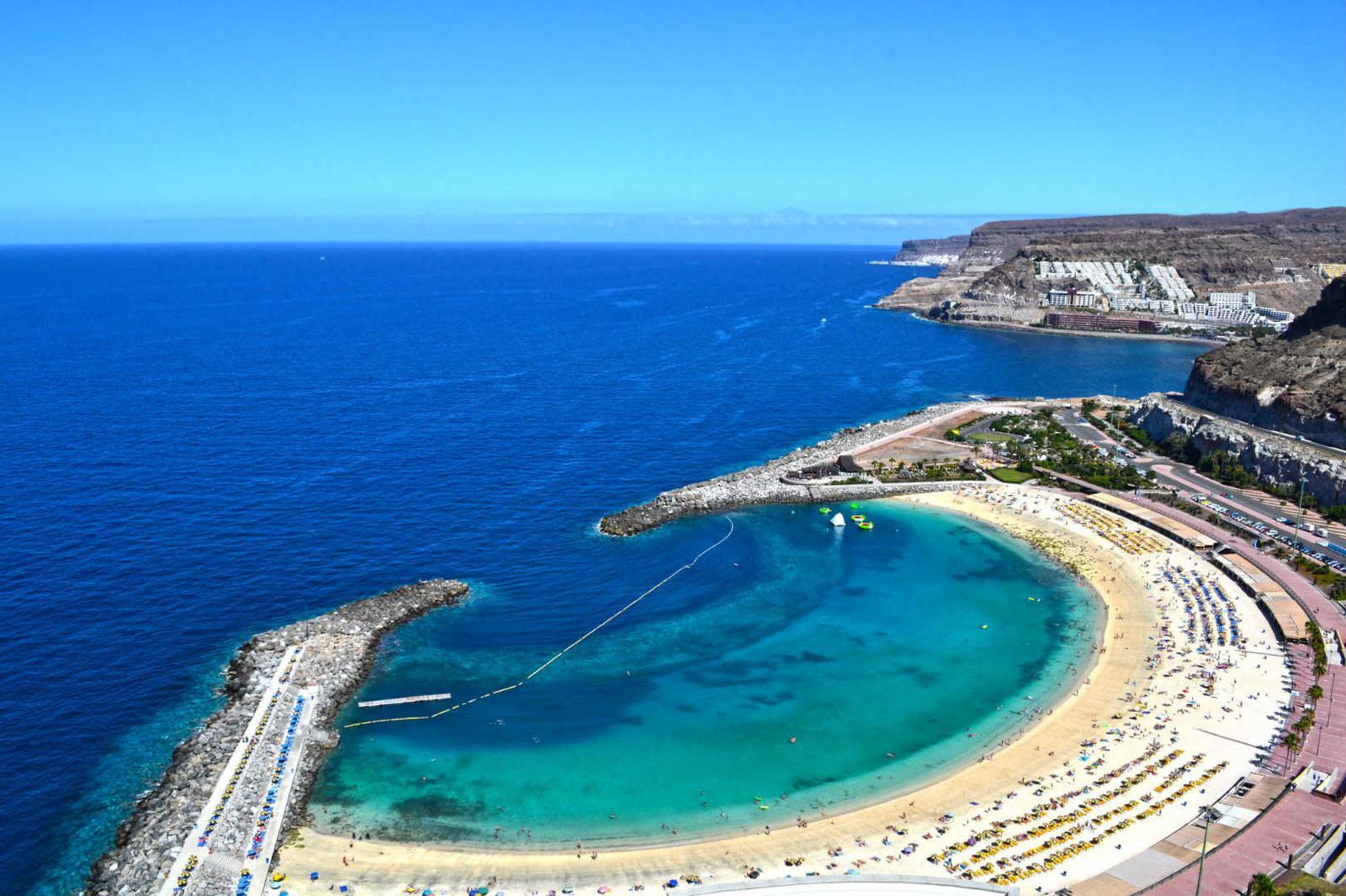 islas España Vista panorámica de playa en Gran Canaria