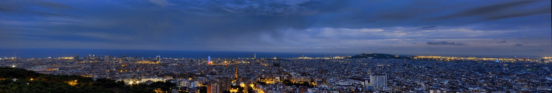 puesta de sol Atardecer desde el Bunker, Barcelona
