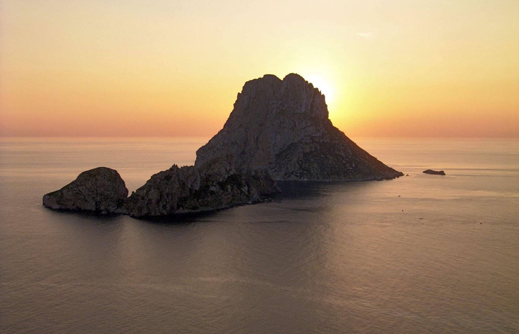 puesta de sol Atardecer desde Es Vedrá, Ibiza