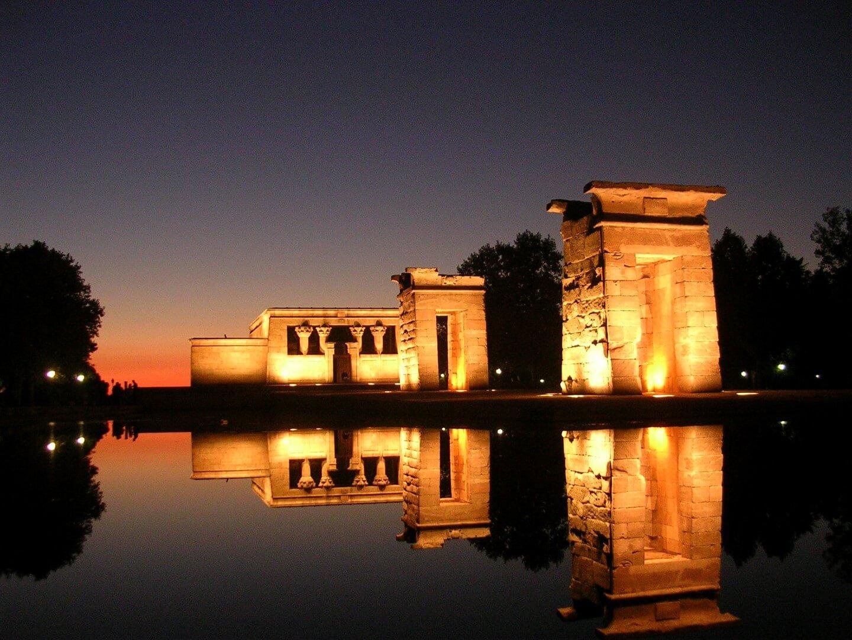 puesta de sol Templo de Debod, Madrid