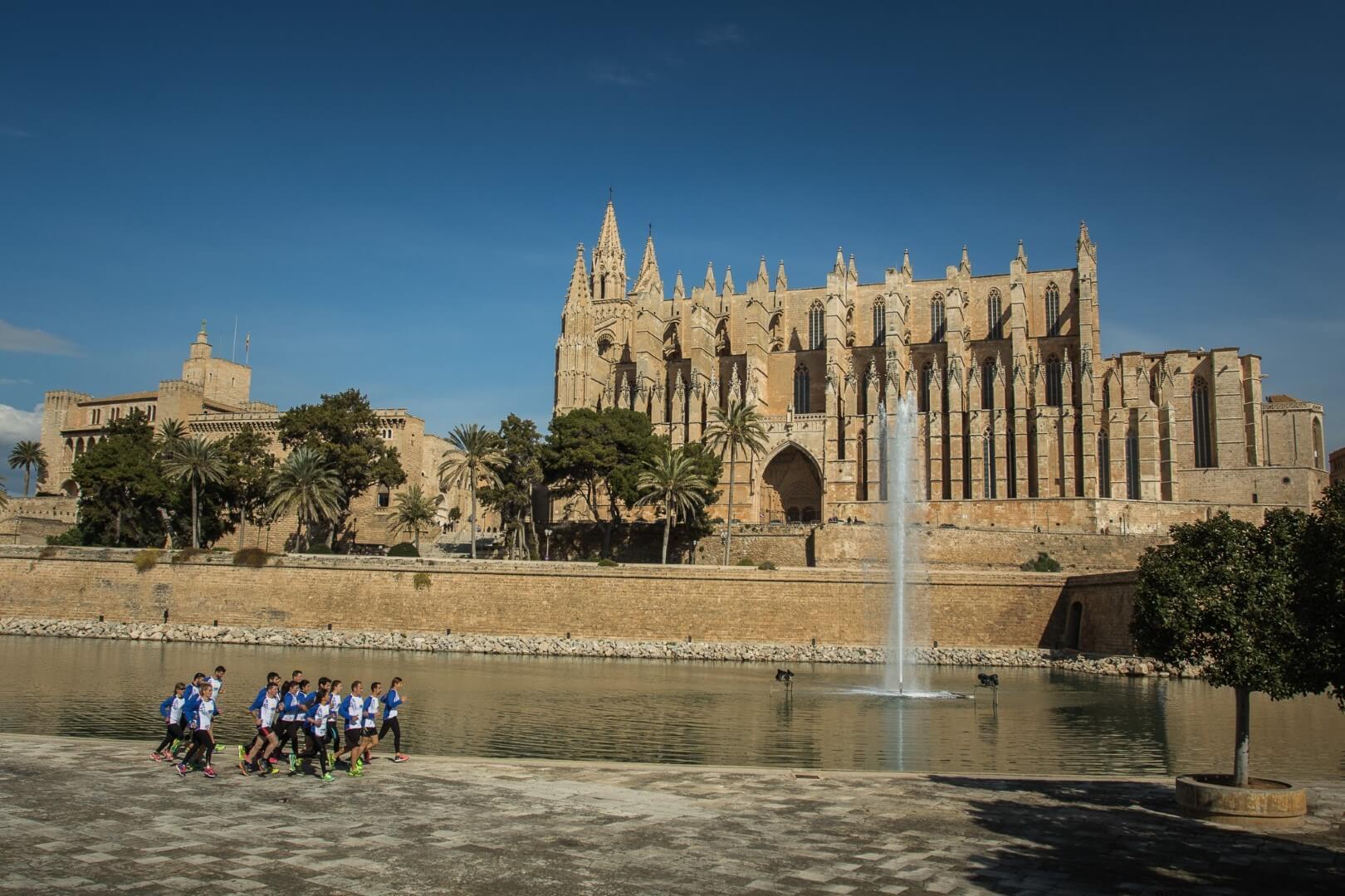 Maratón de Palma de Mallorca. Catedral.