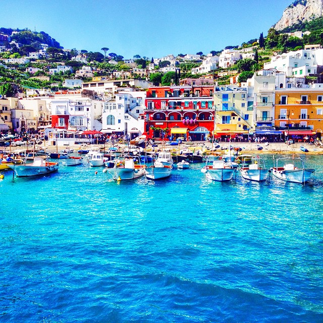 The rocky and romantic island of Capri is perfect for exploring its pebble beaches.