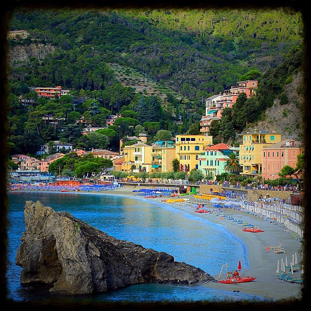 The pastel village at Monterosso Al Mare is the perfect backdrop to a dip in the ocean.