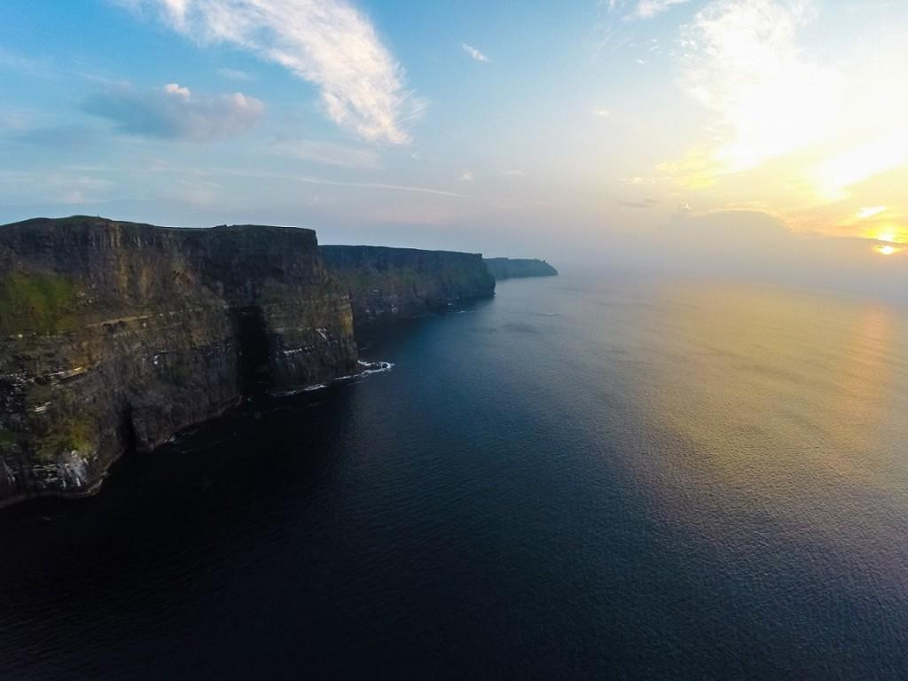 Wild Atlantic Way Aerial Shot - Cliffs of Moher