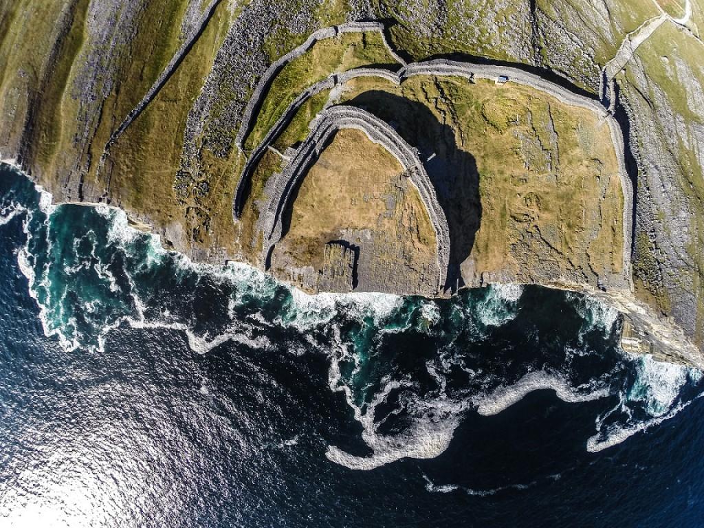 Wild Atlantic Way Aerial Shot Inis Mor