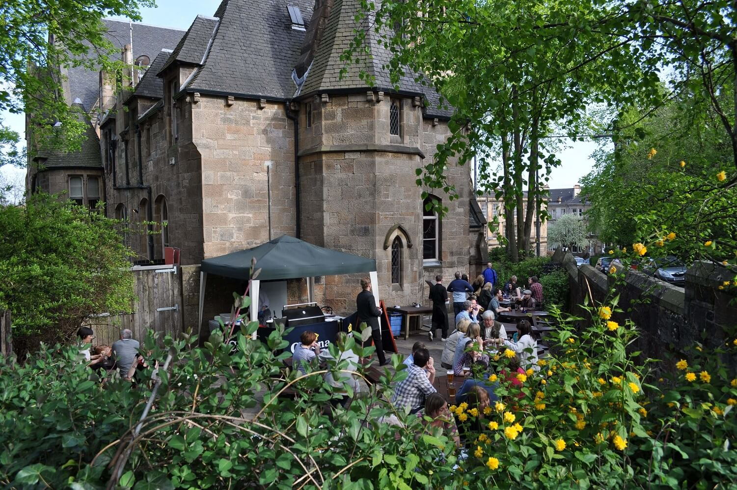 You can count on Cottiers to be one of Glasgow's best beer gardens, hosting regular BBQs in the summer months.