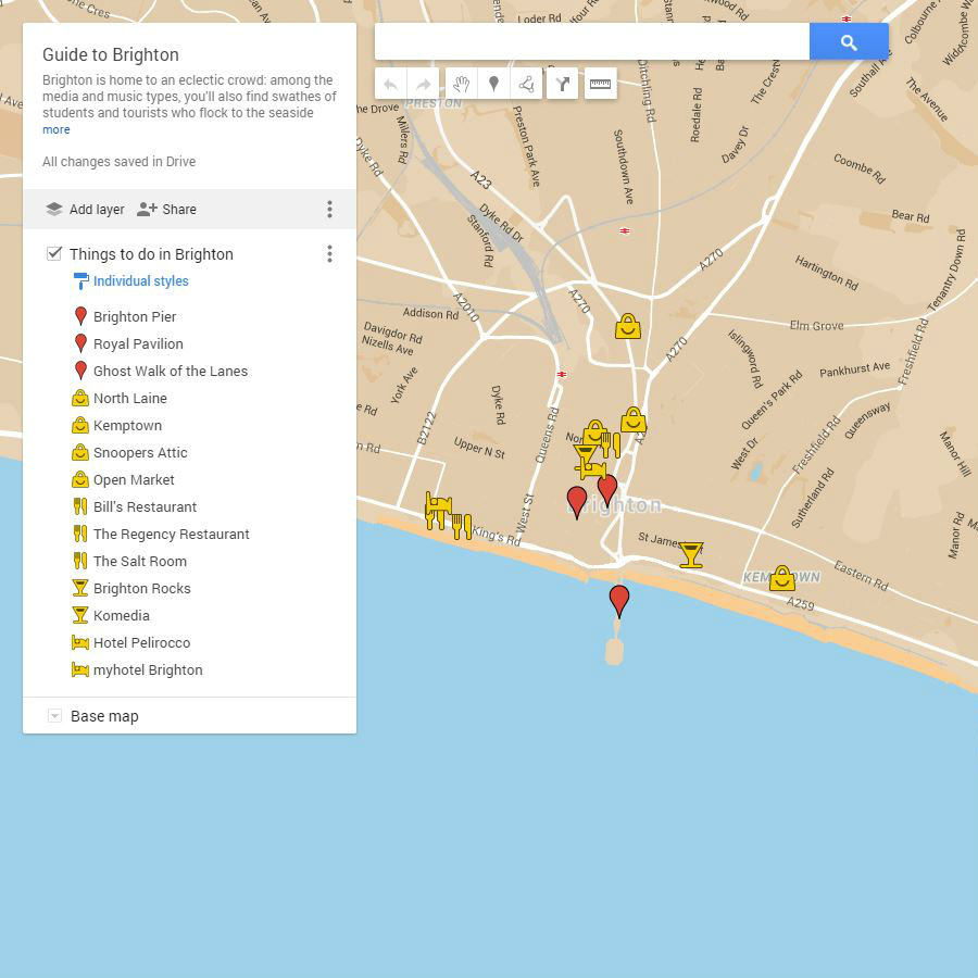 Guide to Brighton Google Maps