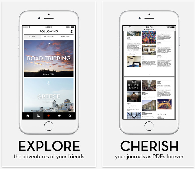 Best travel apps: Bonjournal