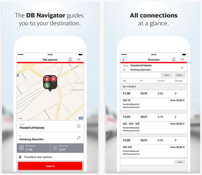 Best travel apps: Deutsche Bahn
