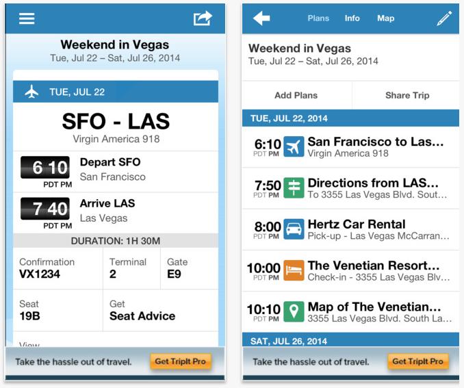 Best travel apps: TripIt