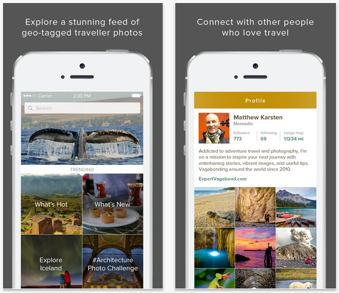 Travel apps: Trover