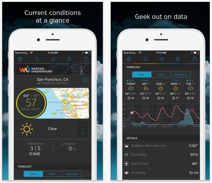 Weather Underground app