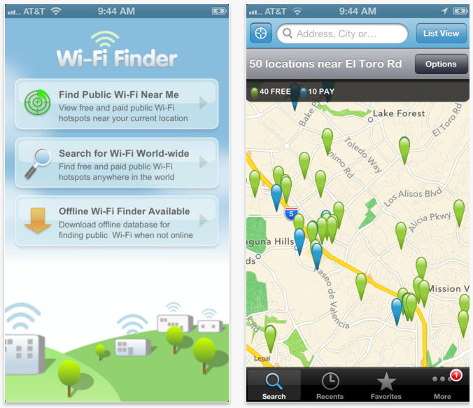 Wi-fi Finder app