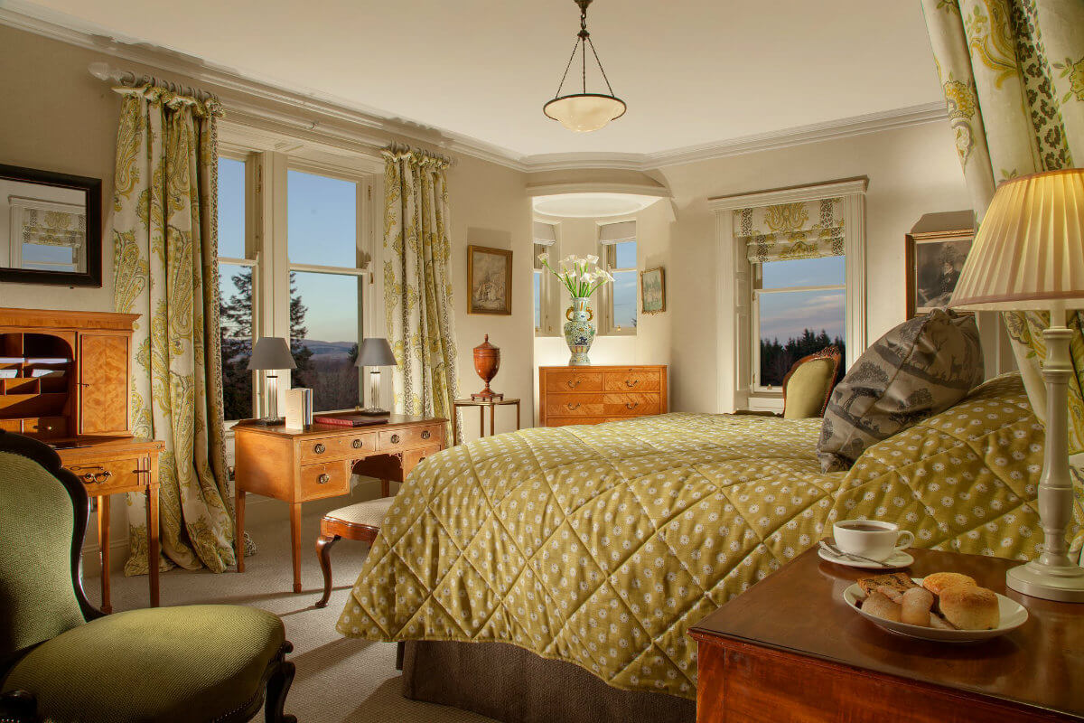 Room at the tennis hotel Cromlix House