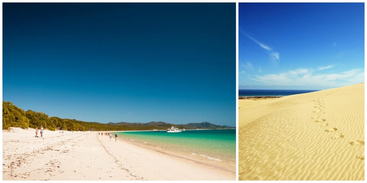 Australia vs. New Zealand: beaches