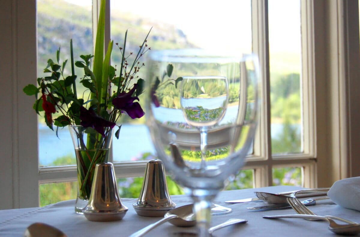 dining room, gougane barra hotel