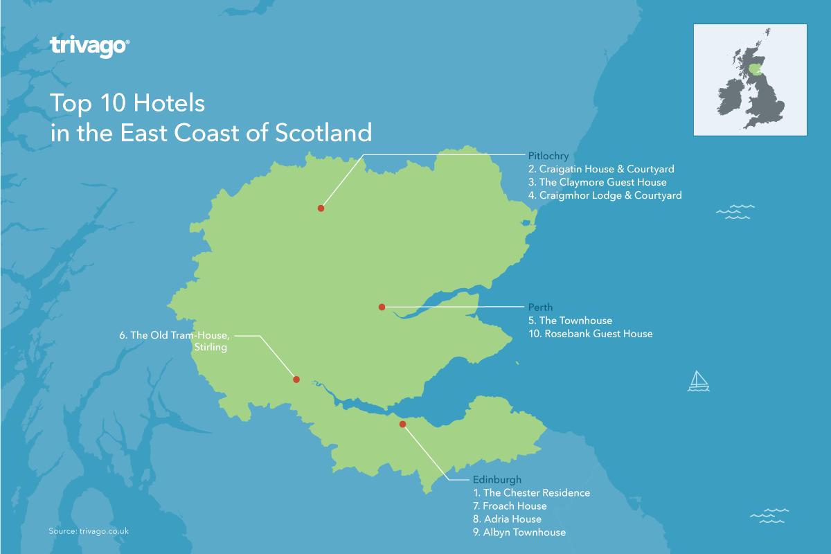 Top hotels East Coast