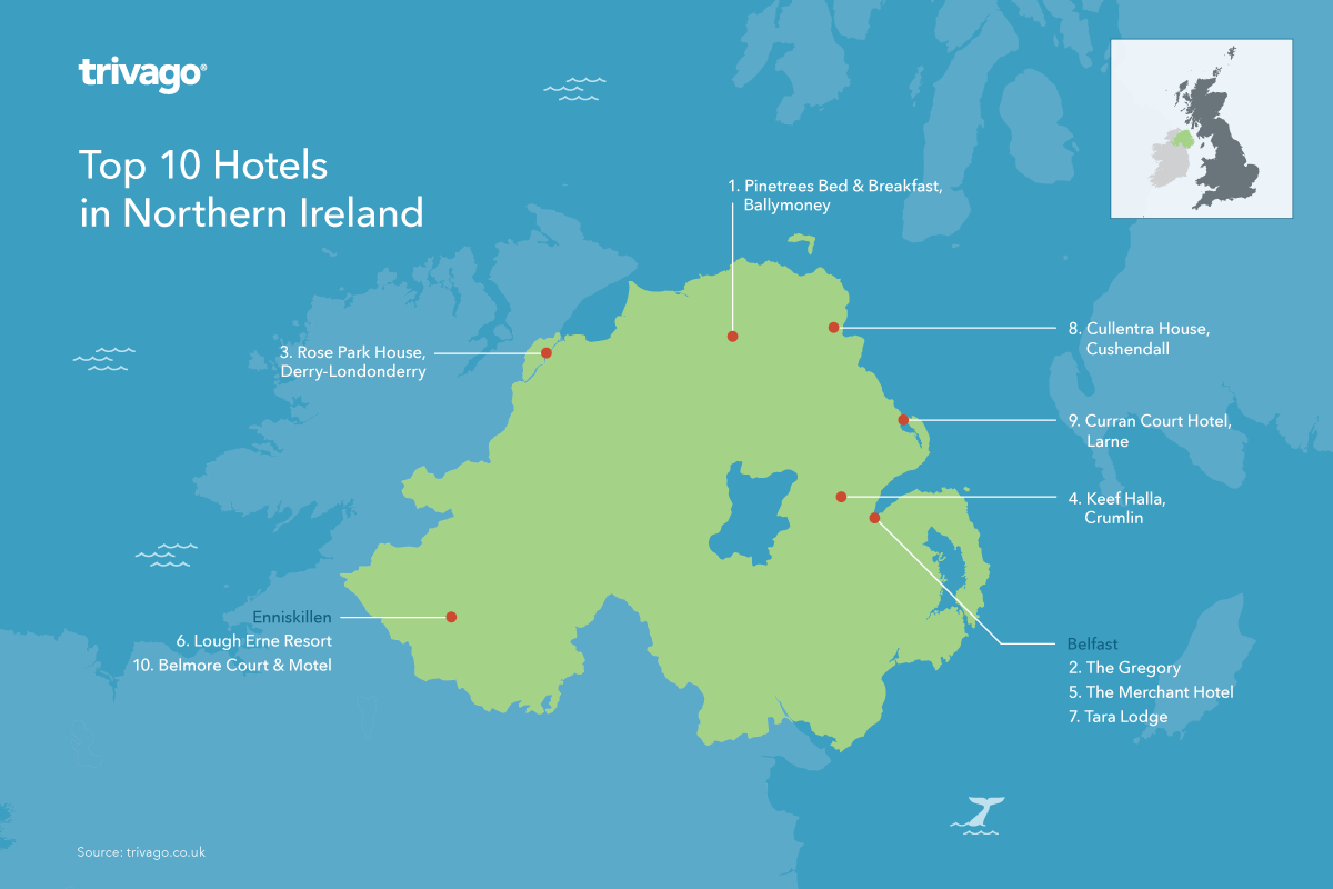 Top rated hotels Northern Ireland