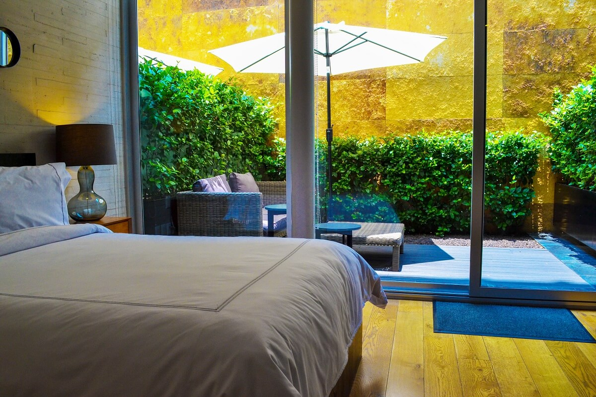 Habitación con patio privado Hotel boutique AR218