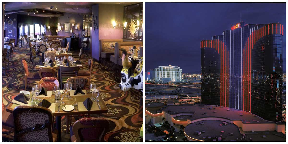 Restaurante e vista do Rio All Suites, em Las Vegas