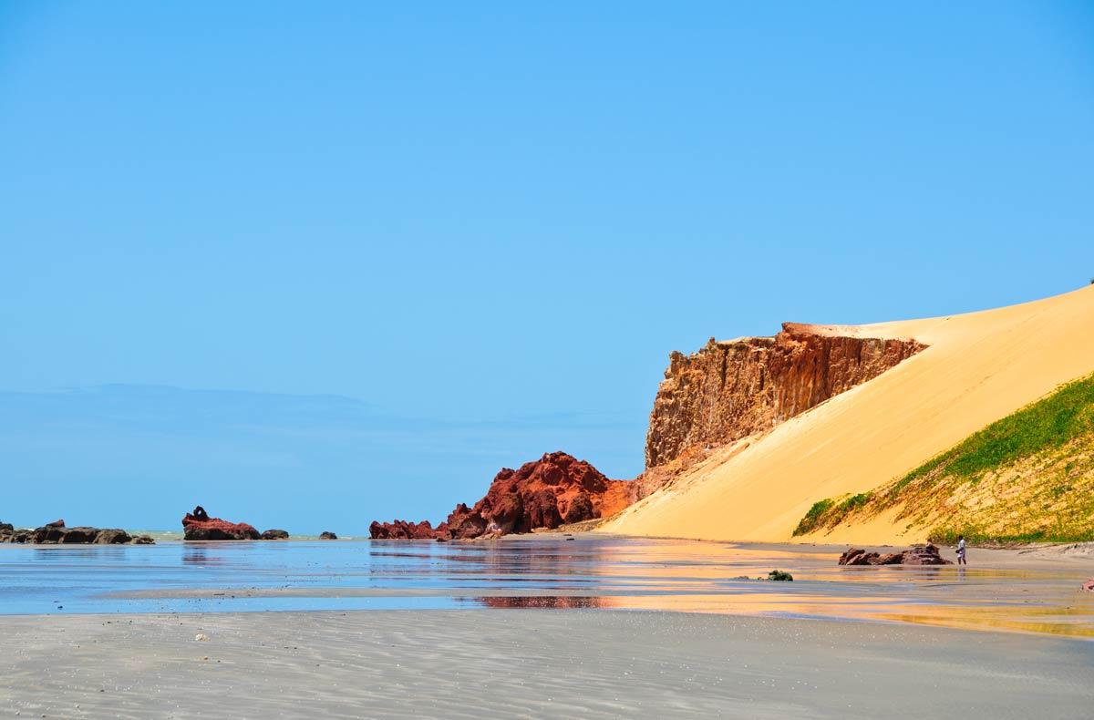 Duna na Praia de Canoa Quebrada, em Aracati, Ceará