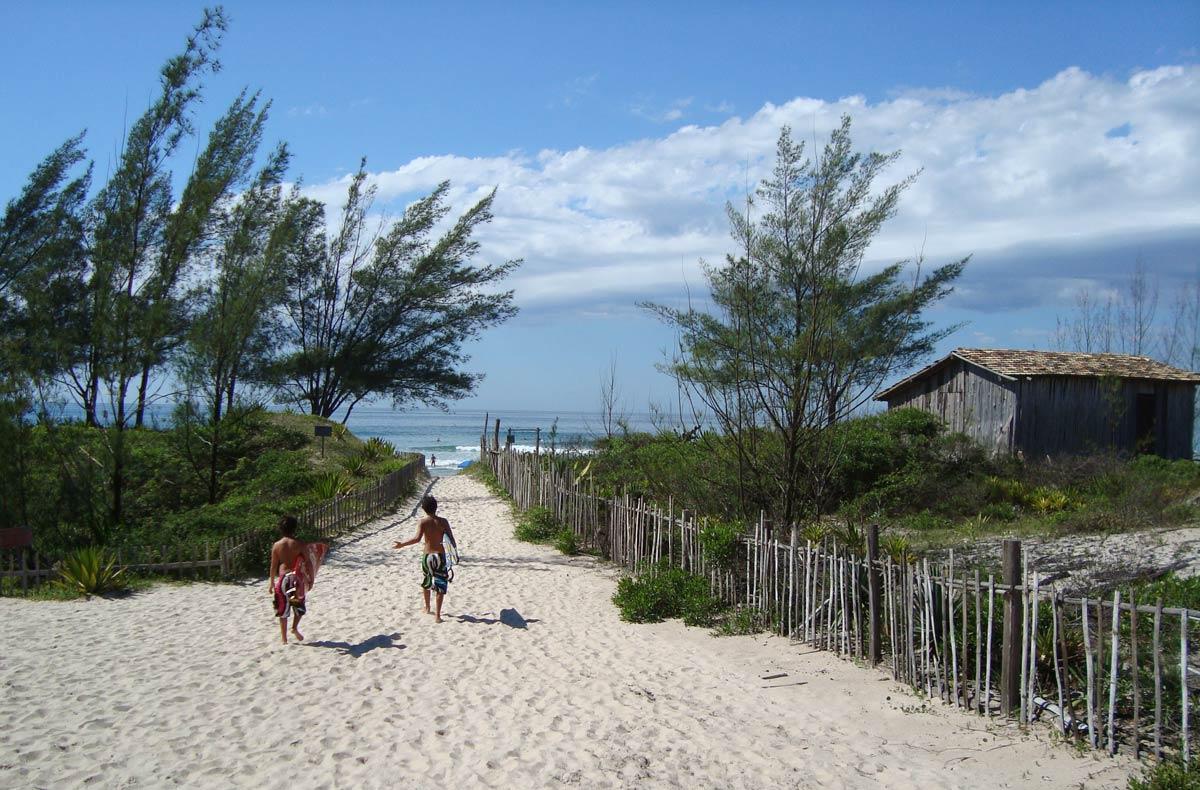Praia do Ferrugem, em Garopaba, Santa Catarina