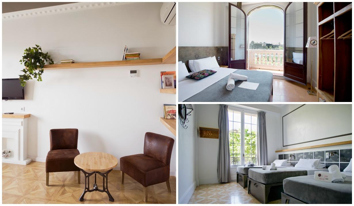 quartos do hostel casa gracia em Barcelona