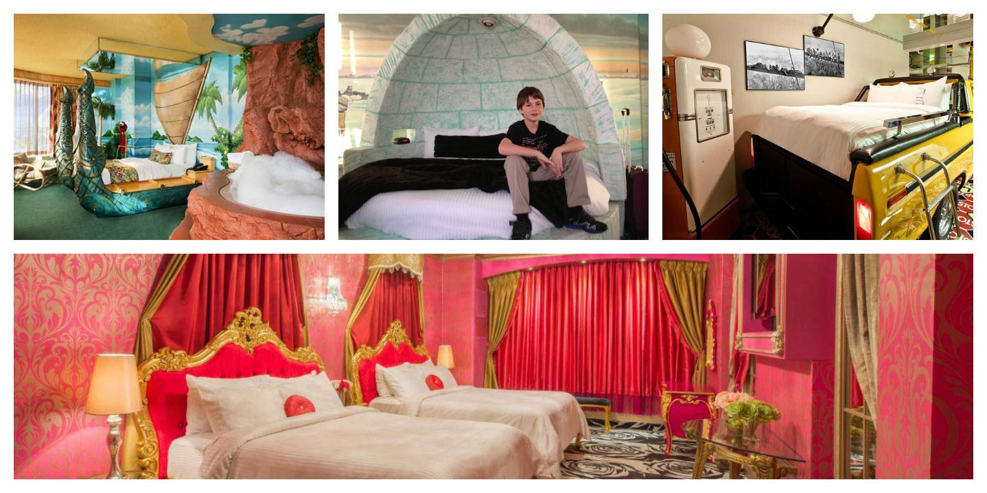 Quartos Fantasyland Hotel Edmont Canadá