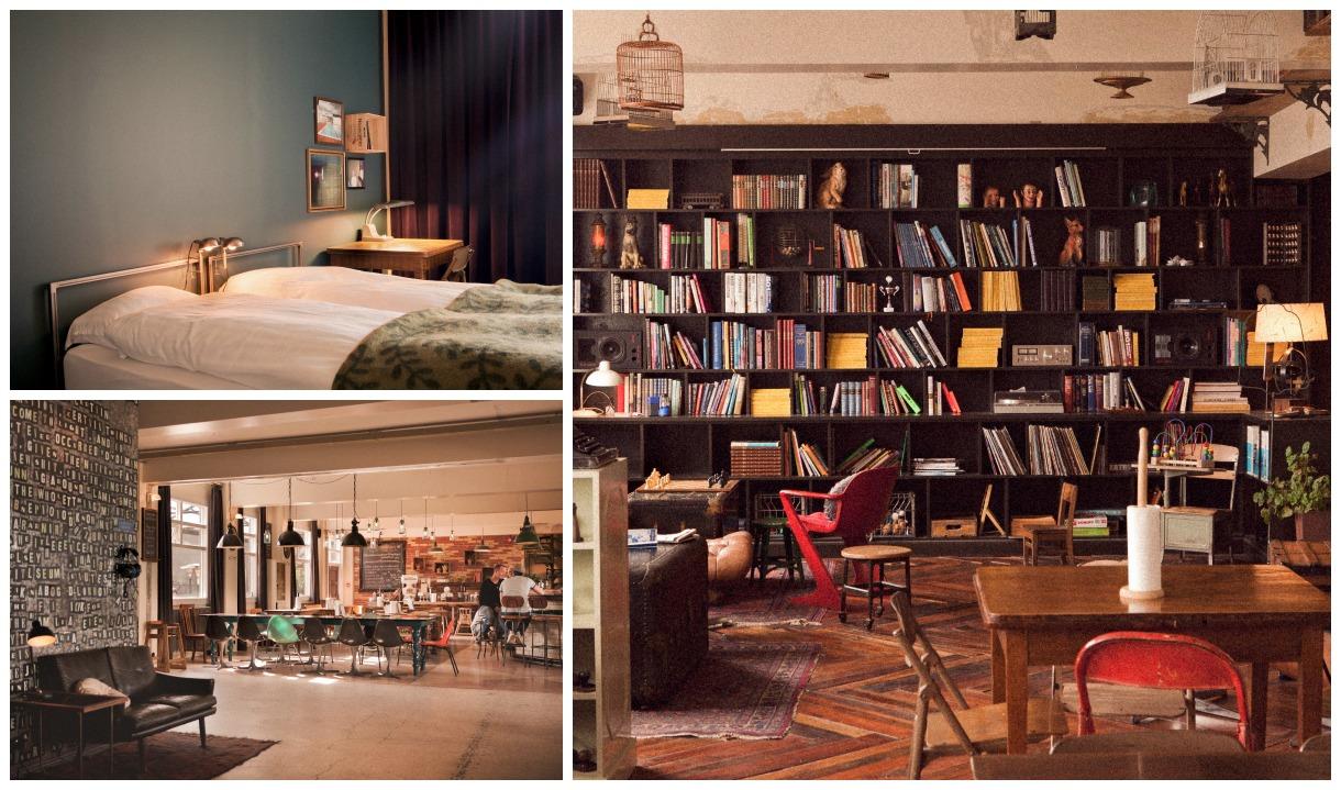 cozinha e quarto do kex hostel na islandia