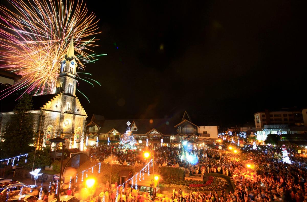 Virada do ano em Gramado. Foto: Cleiton Thiele, Divulgação.